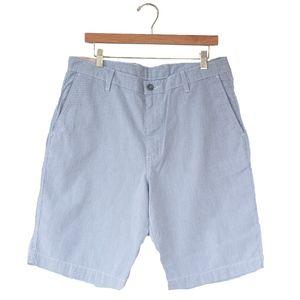 NWT Levi's Men's Blue Chino Striped Shorts W34